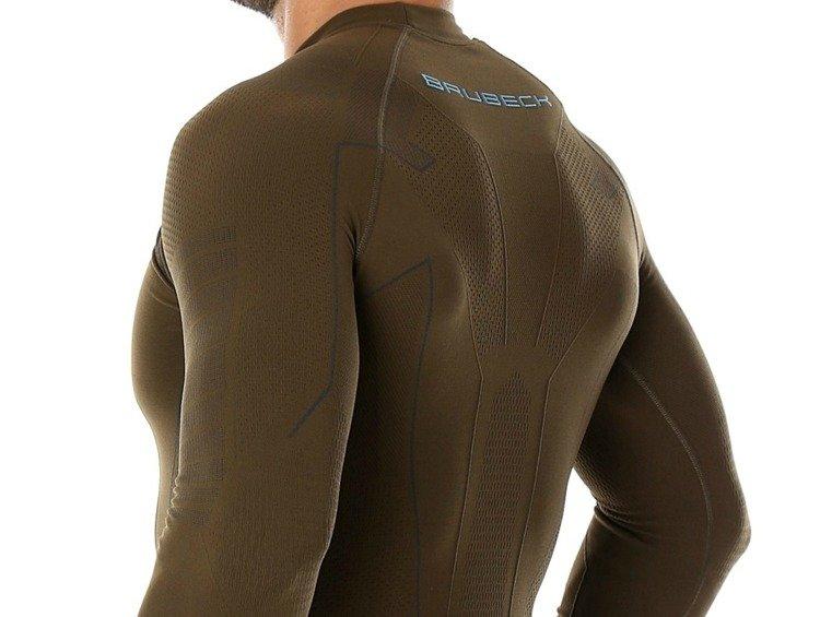 34a154237c185f Męska bluza termoaktywna Brubeck Thermo LS13040 khaki | ON \ Odzież ...