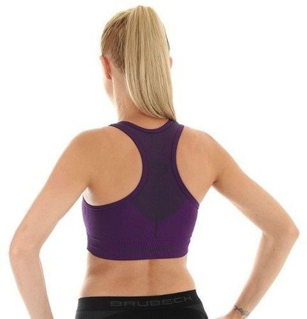 Damski sportowy Crop Top fitness BRUBECK  CR10070 purpura